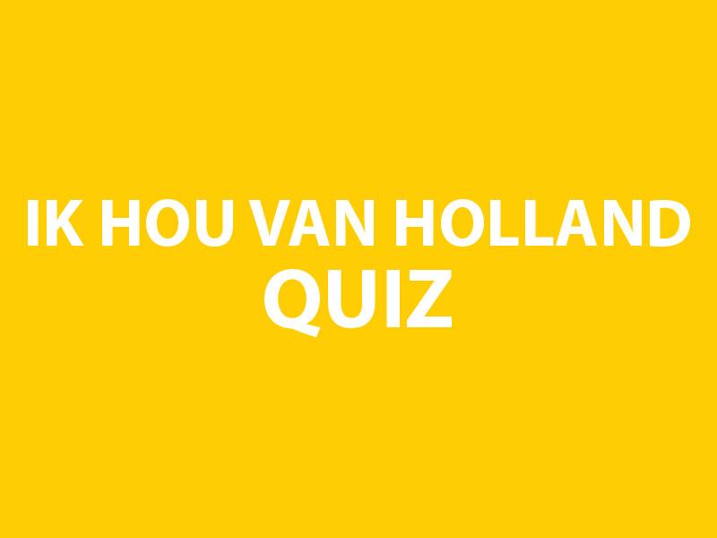 Holland Quiz - bedrijfsuitje